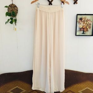 Vintage Cream Flowy Pants